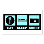 Eat Sleep Shoot Sticker (Rectangle)