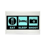 Eat Sleep Shoot Rectangle Magnet (100 pack)