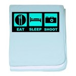 Eat Sleep Shoot Infant Blanket
