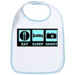 Eat Sleep Shoot Bib