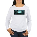 Eat Sleep Shoot Women's Long Sleeve T-Shirt
