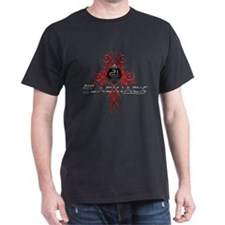 Tribal Blackjack Black T-Shirt