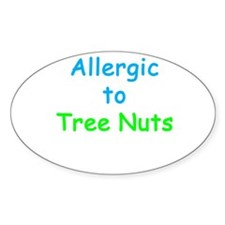 Allergic To Tree Nuts Decal