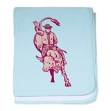 rodeo bull riding Infant Blanket