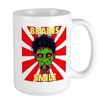 ZOMBIE-BRAINS-SMILE Large Mug