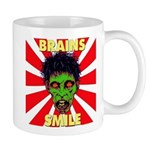 ZOMBIE-BRAINS-SMILE Mug