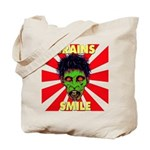 ZOMBIE-BRAINS-SMILE Tote Bag