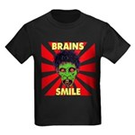 ZOMBIE-BRAINS-SMILE Kids Dark T-Shirt