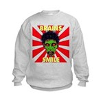 ZOMBIE-BRAINS-SMILE Kids Sweatshirt