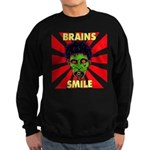 ZOMBIE-BRAINS-SMILE Sweatshirt (dark)