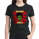ZOMBIE-BRAINS-SMILE Women's Dark T-Shirt