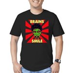 ZOMBIE-BRAINS-SMILE Men's Fitted T-Shirt (dark)