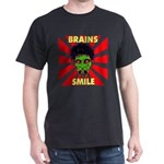 ZOMBIE-BRAINS-SMILE Dark T-Shirt