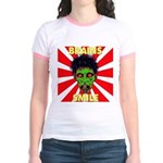ZOMBIE-BRAINS-SMILE Jr. Ringer T-Shirt