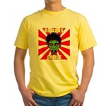 ZOMBIE-BRAINS-SMILE Yellow T-Shirt