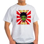 ZOMBIE-BRAINS-SMILE Light T-Shirt