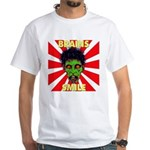 ZOMBIE-BRAINS-SMILE White T-Shirt
