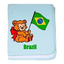 Brazil Teddy Bear Infant Blanket