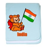 India Teddy Bear Infant Blanket