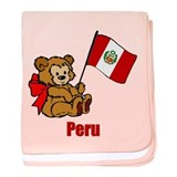 Peru Teddy Bear Infant Blanket