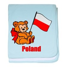 Poland Teddy Bear Infant Blanket