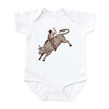 Rodeo cowboy bull riding Infant Bodysuit