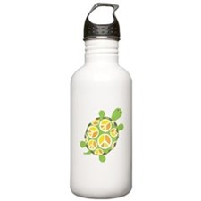 Peace Sign Turtle Water Bottle