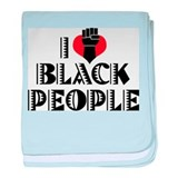 I Love Black People Infant Blanket