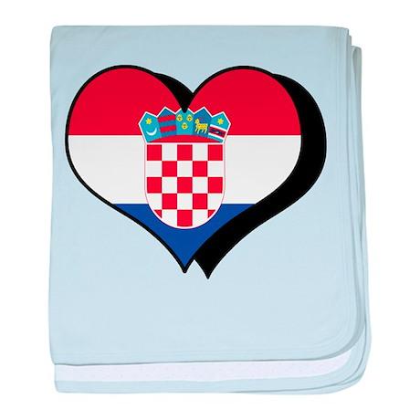 I Love Croatia Infant Blanket