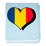 I Love Romania Infant Blanket