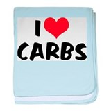 I Love Carbs Infant Blanket