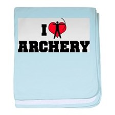 I Love Archery Infant Blanket