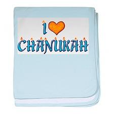 I Love Chanukah Infant Blanket