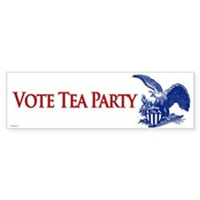 Vote Tea Party Bumper Sticker