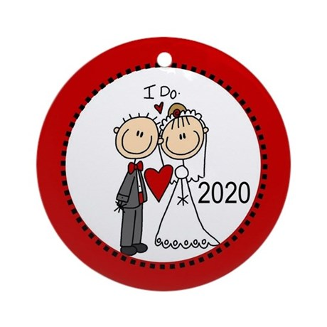 Stick Figures I Do 2013 Ornament (Round)