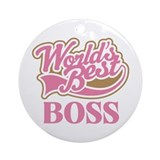 Worlds Best Boss Ornament (Round)