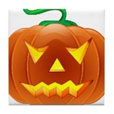 Halloween Pumpkin Tile Coaster