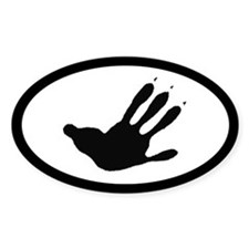 Opossum Track Pawprint Euro Decal