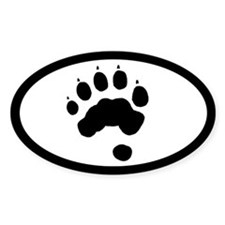 Wolverine Track Pawprint Euro Decal