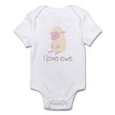 I Love Ewe Sheep Infant Bodysuit