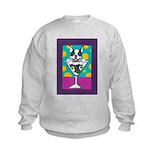 Boston Terrier Martini Sweatshirt