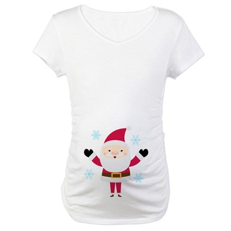 Cute Santa Claus Christmas Maternity T-Shirt