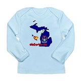 ILY Michigan Long Sleeve Infant T-Shirt