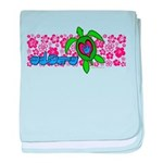 ILY Aloha Hawaii Turtle Infant Blanket