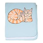 OrangeTabby ASL Kitty Infant Blanket