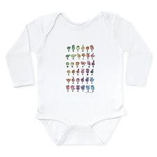 PAS Fingerspelled ABC Long Sleeve Infant Bodysuit