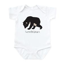I Wrestle Bears Infant Bodysuit