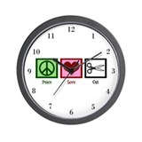 Peace Love Cut Wall Clock