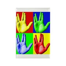 Vulcan Hand Rectangle Magnet (10 pack)