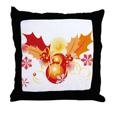 Holly and Berry xmas 2 Throw Pillow